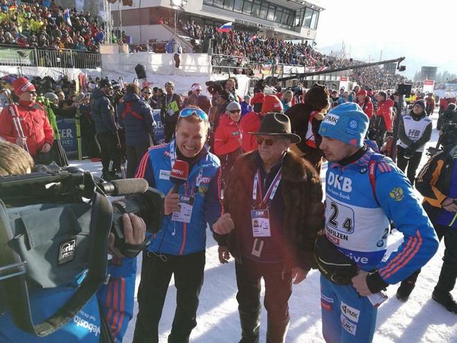 Мужская сборная России выиграла последнюю эстафету Чемпионата мира по биатлону - 2017 в Хохфильцене