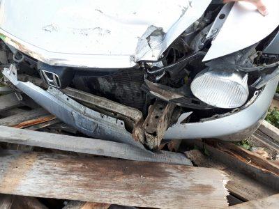 В Кемерове нетрезвый водитель иномарки снёс забор частного дома