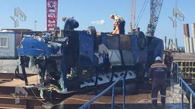 Видео: На Кубани автобус упал в море, есть погибшие