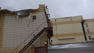 В Кемерове начался снос сгоревшего ТРК «Зимняя вишня»