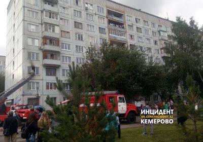 В Кемерове в общежитии на бульваре Строителей произошёл пожар