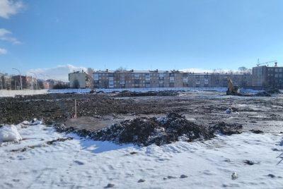 На место сгоревшей «Зимней вишни» пригнали строительную технику