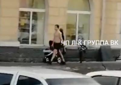 Видео: по кузбасскому городу гуляет голый мужчина