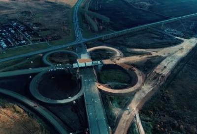 Видео: строительство трассы «Ленинск-Кузнецкий – Кемерово» показали с высоты