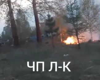 Видео: в кузбасском городе на кладбище полыхали могилы