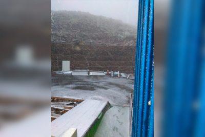 Видео: в Кузбассе выпал первый снег