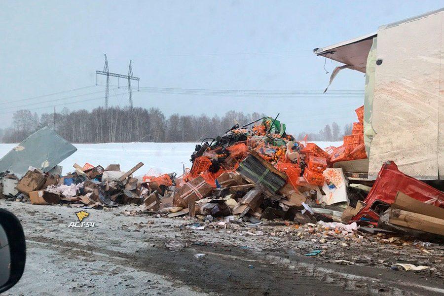 Разнесло в клочья: фото смертельного ДТП на трассе Новосибирск – Кемерово