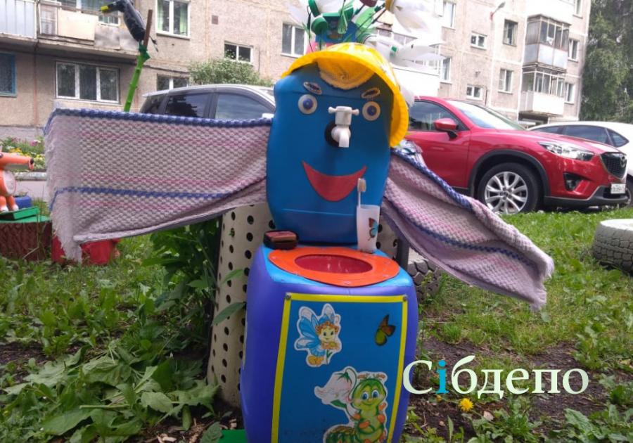 В Кузбассе целый двор стал сказочным арт-объектом